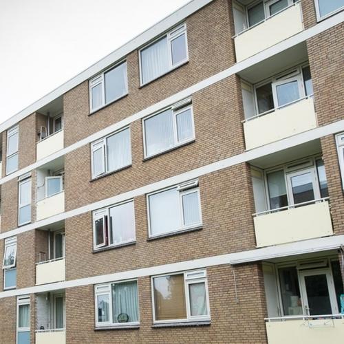 Gerenoveerde gevel appartementen met portiek